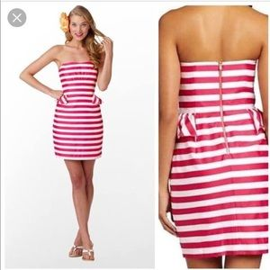Lilly Pulitzer Maybell Pink Strapless Dress